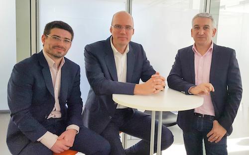 V.l.n.r.: Luc Lutot (CEO van LuxNetwork); Xavier Buck (bestuursvoorzitter en oprichter van Datacenter Luxembourg) en Frédéric Prime (COO van Datacenter Luxembourg)