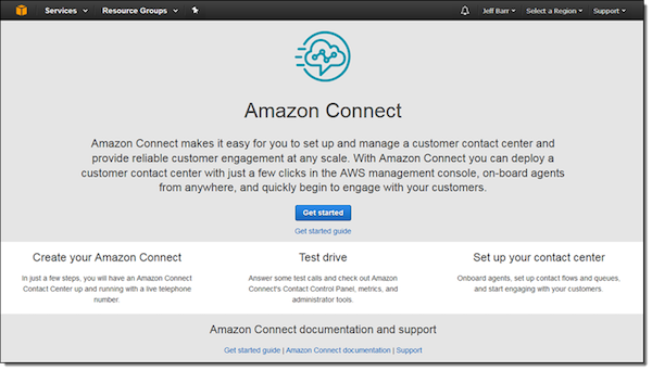 Amazon Connect (bron: AWS)