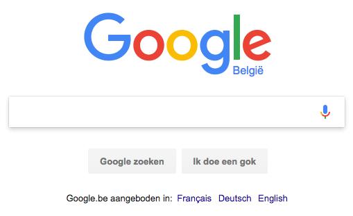 De zoekmachine Google