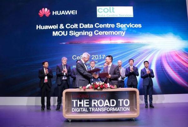 Huawei heeft een deal gesloten met Colt Data Centre Services (bron: Huawei)