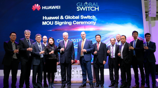 Huawei heeft een deal gesloten met Global Switch (bron: Huawei)