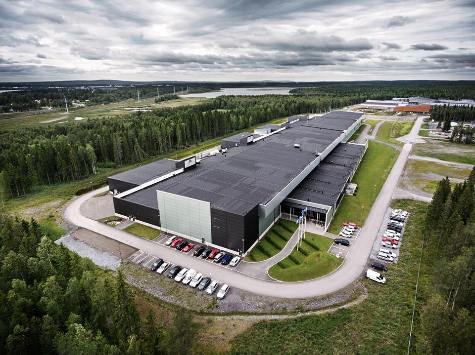 Het datacenter van Facebook in het Zweedse Lulea (foto door: Mark Zuckerberg)