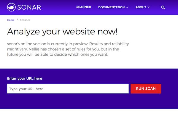 De open source linting tool en site scanner sonar van Microsoft
