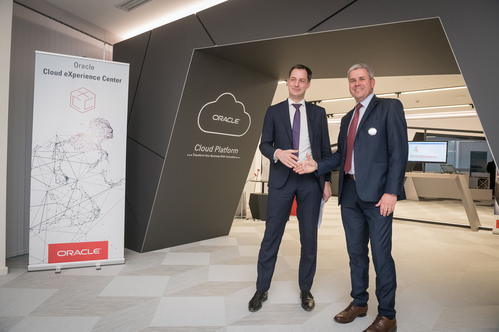 Oracle België viert opening van het 1ste Cloud eXperience Center